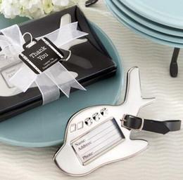 etiquetas para los favores de partido Rebajas Etiqueta de equipaje de avión en caja de regalo con etiqueta de maleta Boda / Favores de fiesta. Etiquetas de equipaje de viaje Favores de boda