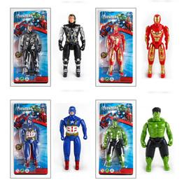 Meninos brinquedos de super-heróis on-line-Avengers Superhero Figuras de Ação boneca brinquedos 14.5cm PVC Homem de Ferro Thor Hulk Capitão móveis modelo Brinquedos Meninos Kid presente L431