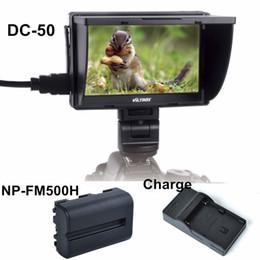 Batterie np online-Freeshipping Viltrox 5 '' DC-50 Monitor LCD TFT a colori con clip AV HDMI per Canon Sony con NP-FM500H e caricabatterie