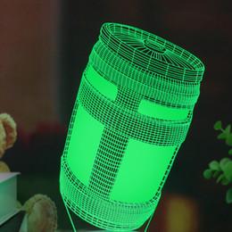 2019 levou luz água lâmpada de mesa Fortnug Chug Jug Kid Luz Noturna Levou Cor Mudando Quarto Decoração Atmosfera Acrílico Desk Lamp Cabeceira Fortes Batalha Royale