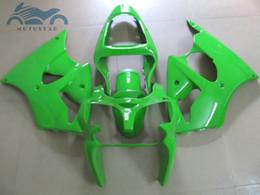 Luzes ninja zx6r on-line-Kit de carenagem de carroçaria de corrida de estrada para KAWASAKI ninja 2000 2001 2002 ZX6R luz verde ZX 6R 00-02 Kits de carroçaria de carroçaria para
