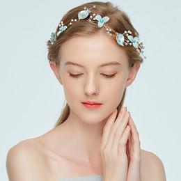 fiori di panno fatte a mano Sconti Semplice moda sposa gioielli fatti a mano fiore panno arte copricapo copricapo elegante accessori per capelli romantico fascia d'oro