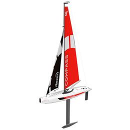 Barcos rc on-line-Volantexrc 791 - 1 65CM 2.4G Rádio 4CH RC barco bússola veleiro pré-montado sem bateria DIY brinquedo controle remoto sem fio