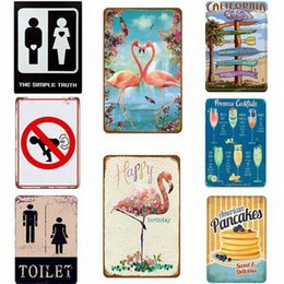 signs for cars Promo Codes - Garage Plaque Car Metal Tin Signs Posters Wall Sticker Art Painting Plaque For Pub Bar Garage Living Room Home Decor