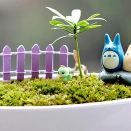plantas miniatura dollhouse Desconto HOT Malha Cerca de madeira Mini Sinais Fada Dollhouse Jardim das Plantas estatueta decoração Ornamento Miniatures Paisagem