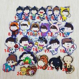 família cheia Desconto 1 pcs Promation Osomatsu Família Anime Chaveiro Osomatsu-san Número Completo Chaveiro Portachiavi Llaveros