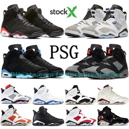 Factory Direct PSG Black Infrared 2019 6 6s Scarpe da pallacanestro uomo Be Like Mike Oreo Wheat Flint Sport Blu Nero Cat Jumpman sneakers da