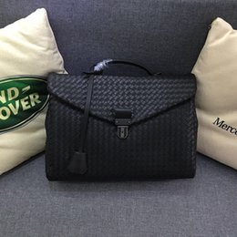 2019 pastas de couro duras para homens Kaisiludi tecido de couro dos homens bolsa de negócios dos homens pasta de couro encerado virar bolsa de computador saco de escritório mailman