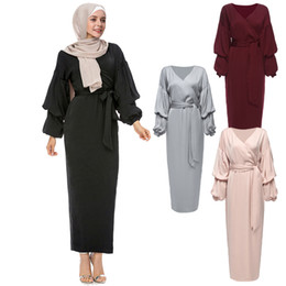robe long muslim Coupons - Kaftan Abaya Robe Dubai Islam Long Muslim Hijab Dress Qatar UAE Oman Caftan Marocain Abayas For Women Turkish Islamic Clothing