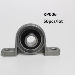 50 pz / lotto KP006 30 in lega di zinco cuscinetto blocco del cuscino Supporto a sfera sferica del supporto del supporto montato da blocchi di rulli fornitori