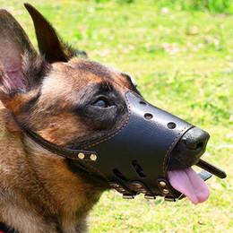 mascara de entrenamiento para Rebajas Mascarilla Transpirable Ajustable Cuero de LA PU Perro Mascota Bozal Anti Corteza Mordida Masticar Masticar para Pequeños Perros Grandes Boca Bozal Suave Entrenamiento