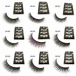 2019 outil 15 3D vison faux cils longs épais vison naturel cils à la main faux cils yeux maquillage outils 15 styles RRA945 promotion outil 15