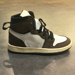 2019 niños niña zapatillas Desinger Kids Running Shoes Mid Travis Scotts Cactus Jack Niños Zapatillas de deporte al aire libre Boy Girl Trainer Zapatos de bebé Calzado para niños pequeños niños niña zapatillas baratos