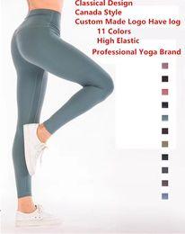 Marke sexy frauen hose online-11 Farben Align Pants Women Kanada Yoga-Marken-Entwerfer-Gamaschen-Dame Sexy Gym Lauf Joggings Hose Fitness Sports Gamaschen 5010