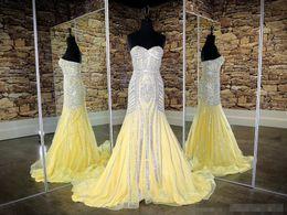 2019 великолепный желтый саудовско-арабский конкурс выпускного платья русалка кристалл бисером милая шифон длиной до пола вечернее вечернее платье от