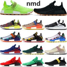 2019 buone schede 2019 Cheap adidas NMD HUMAN RACE Pharrell Williams uomo Mccolor Dye delle donne degli uomini Pacchetto solare Madre designer moda scarpe sportive con scatola