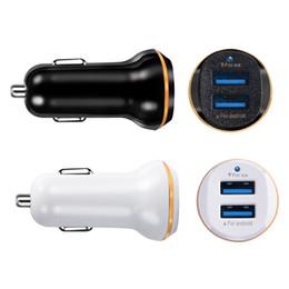 adaptador de telefone duplo Desconto Car Charger Duplo duplo portas USB 3.1A Carregadores de carro adaptador de carregador para Samsung S7 S8 telefone android gps mp3