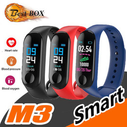 Factory Store Smart Watch Band Bracciale Wristband Fitness Tracker Blood Pressure M3 Smartwatch Drop Shipping da trasporto di goccia della mela fornitori