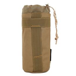 bottiglie d'acqua backpacking Sconti Outdoor Sport Viaggi Campeggio Ciclismo Equitazione zaino portatile Tactical Army Molle Bottiglia d'acqua sacchetto di acqua calda bollitore tattico # 751784