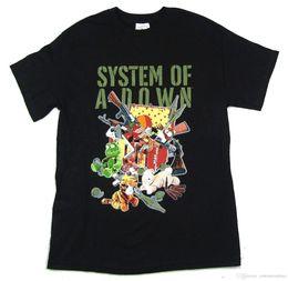 Argentina System Of A Down Toys Guns camiseta negra Nueva banda oficial Merch Soad camiseta para hombre Camiseta Basquete personalizada manga corta Suministro