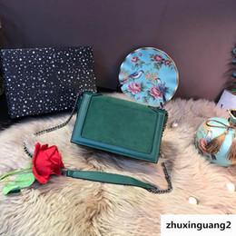 2019 bolso de diseñador de ante negro Hombro de lujo para mujer Niki Medium Suede Negro Verde Gris Bolsos Mujeres Diseñador Cubierta Bolsos Cadena Casual Totes rebajas bolso de diseñador de ante negro