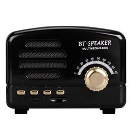 Kablosuz Bluetooth Hoparlör Handsfree Subwoofer 5 w Retro klasik Hoparlör FM TF Radyo ile akıllı telefonlar için Nostaljik nereden akıllı telefon hoparlörleri tedarikçiler