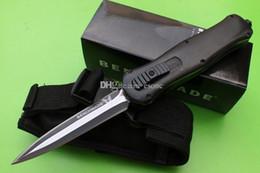 cuchillo plegable de acero real Rebajas Benchmade Mchenry 3300 Infidel Ebony Handle cuchillos infidelos opcionales cuchilla doble cuchilla cuchillo de camping cuchillos cuchillo de regalo