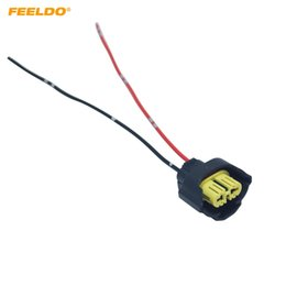 headlight harness Coupons - FEELDO Car Headlight Lamp Holder H8 H9 881 Base Bulb Socket Electrical Wire Connector Wiring Harness Plug Adapter #FD5961