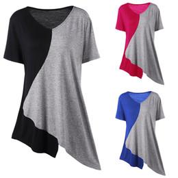 aacb3d4838e3 Distribuidores de descuento Camisa Asimétrica Para Mujer | Camisa ...