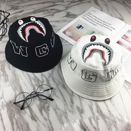 Deutschland Hip Hop Style Caps mit Print Shark Head Tide Marke Outdoor Caps für empfindliche Sommer Bucket Hats Versorgung