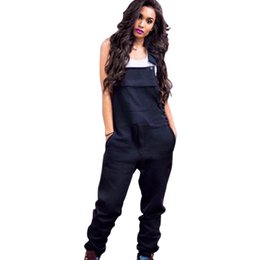 c3151aa6ab6 Brand Designer Women Jumpsuit Rompers strap Capris Sexy Overalls Bodysuit  winter fall clothes bodycon jumpsuit pocket black yellow S-XL 88