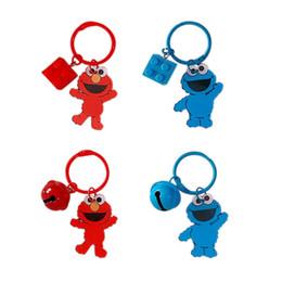Argentina 2019 Nuevo Caliente 1 Unid nuevo Creativo Llavero de Sesame Street Llavero de dibujos animados de Elmo bolso del monedero del coche colgante figura juguetes para niños regalo cheap new hot toys Suministro