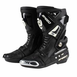Moto PRO-BIKER Bottes de protection Bottes moto de vitesse Chaussures de course sur route Chaussures en cuir microfibre ? partir de fabricateur