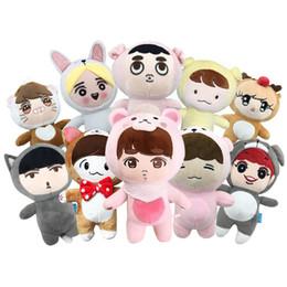 Kpop Bts EXO XOXO Baekhyun Plush Stuffed Doll Clothes Sports Suits Tracksuit Be