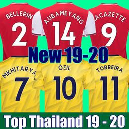 Top qualità della Thailandia 19 20 ARSENAL maglia da calcio AUBAMEYANG LACAZETTE OZIL TORREIRA maglie 2019 2020 calcio maglia calcio kit calcio da
