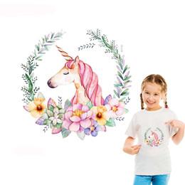 10 parça unicorn ısı transferi DIY sıcak sticker karikatür dantel elbise baskı demir vinil transfer gömlek dekorasyon nereden