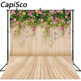 фотографии фоны бабочки Скидка Capisco Floral Wood Wall floor Photography Backdrops Newborn Baby Flower Butterfly Studio birthday Wedding Photo Backgrounds