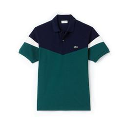 2019 magliette calde polo T-shirt da uomo classiche HOT Fashion Crocodile T-shirt da uomo LAC01 France Famoso Designer Estate manica corta T-shirt da uomo Luxurys Donna Polo Tops magliette calde polo economici