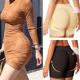 Bunda shorts mulheres on-line-Mulheres Floral Lace Moda acolchoado Butt Lift Calcinha Invisível Short Butt Lifter para roupa interior da mulher