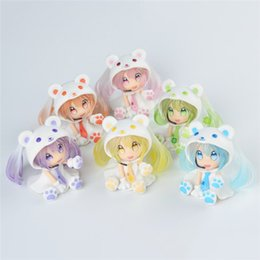 hatsune miku toys Promo Codes - Snow hatsune Hot 2019 Demishop Q Version of the Lovely White Bear Hatsune Miku Snow 6cm PVC Action Figure Collectible Model Toys Doll