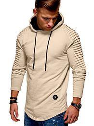 Estilos de ropa baratos online-Barato Diseñador para hombre Sudaderas con capucha de manga larga para hombre de manga larga con capucha Fold Stripe Muscle Clothing Hombres sudadera Street Style clothing