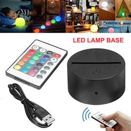 3D dekorasyon lamba Şarj Sıcak RGB 3D gece lambası 4mm Akrilik Illusion baz lambası Pil veya DC 5V UBS nereden