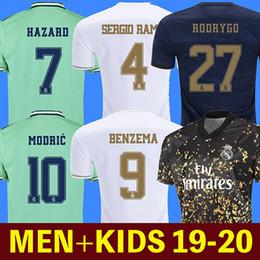 maglie di lyon Sconti pullover da calcio Real Madrid 19 20 PERICOLO JOVIC MILITAO camiseta de fúbolbol 2019 2020 kids VINICIUS JR ASENSIO maglietta da calcio bambini MARCELO ISCO camisa de futebol