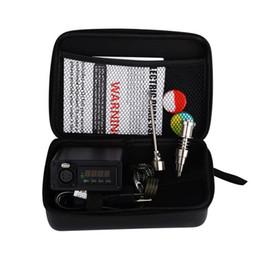caja de mod rig Rebajas Bolso de cuero portátil Enail mod dab pen rig aceite cera dabbing PID TC caja con Ti titanio sin hogar bobina de calor Dnail E-nail kit