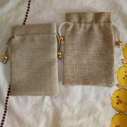 2020 perlen jute 2019 Neuheiten Schmuck Verpackung Taschen Natürliche Jute Jute Perlen Kordelzug Tasche Geschenk Taschen Hochzeit Geburtstagsfeierversorgungen rabatt perlen jute