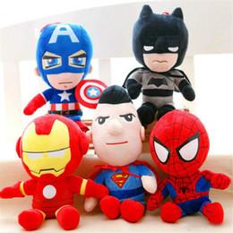 Heiße spielzeug kapitän amerika rächer online-Marvel The Avengers Plüsch-Puppe Spiderman Spielzeug Captain America Puppe-Karikatur Plüschtiere Kinder Geschenke heißeste