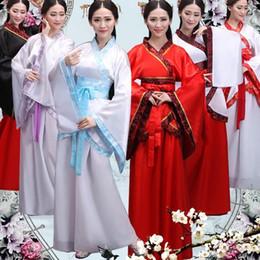tänzer kostüme für frauen Rabatt China Hanfu Tanzen Kostüme für Frauen Prinzessin Dress Traditional Chinese Folk Dancer Kostüm Leistung Kleidung S-XXL