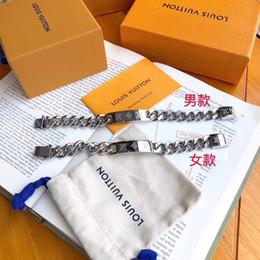 Pulseras de cadena para hombres Mujeres Acero titanio Louis pulsera de diseño brazalete moda Oro plata Lujo joyería amante regalo l v desde fabricantes