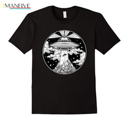 Мужские татуировки футболки онлайн-Горячая продажа Мода инопланетная татуировка TShirt - UFO 51 Area Roswell Поверьте футболку мужчин с коротким рукавом рубашки Tee