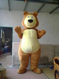 2019 tamanho adulto ursos de pelúcia Nova Profissão Brown Bear Mascote Trajes Da Mascote Dos Desenhos Animados do Dia Das Bruxas Adulto Tamanho Teddy Bears Aniaml Fantasia Vestido de Festa frete grátis tamanho adulto ursos de pelúcia barato